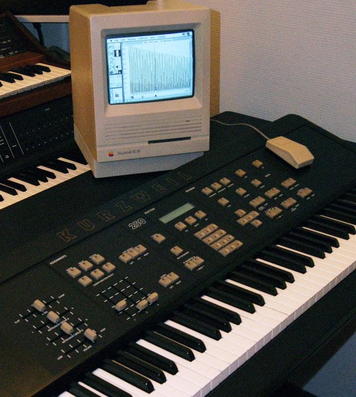 Kurzweil 250 et Macintosh SE30